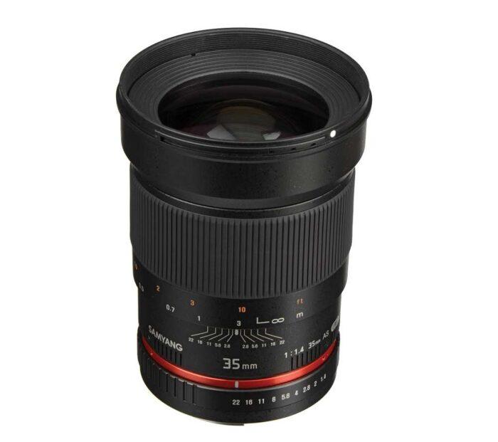 Samyang 35mm f1.4 objektiivi rent